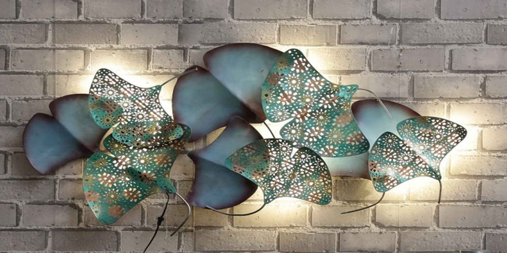 Zingo-Leaf-Wall-Art-With-Led-In-Multicolour
