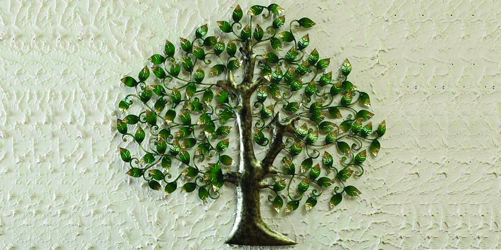 Floral-tree-in-golden-wall-art